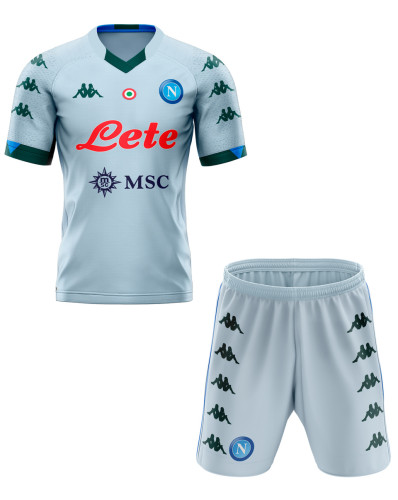 Napoli 20/21 Away Soccer Jersey and Short Kit
