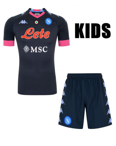 Napoli 20/21 Kids Third Soccer Jersey and Short Kit