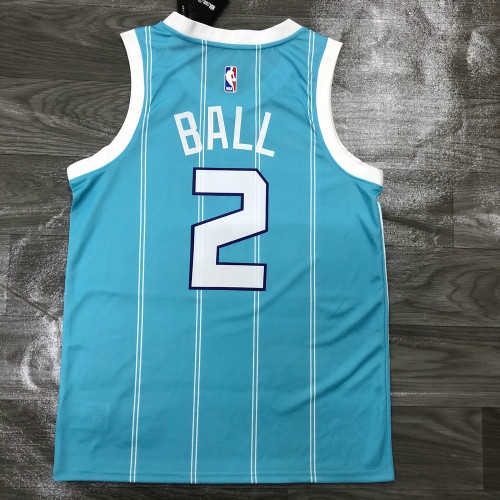 Thai Version Men's LaMelo Ball Teal 2020-21 Player Jersey - Statement Edition
