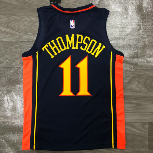 Thai Version Men's Klay Thompson Navy Player Jersey - Retro Classical Edition
