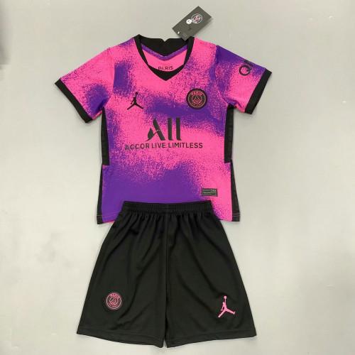 Paris Saint-Germain 20/21 Kids Fourth Soccer Jersey and Short Kit