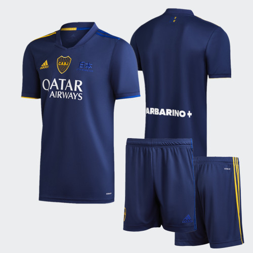 Boca Juniors 2020 Fourth Soccer Jersey and Short Kit