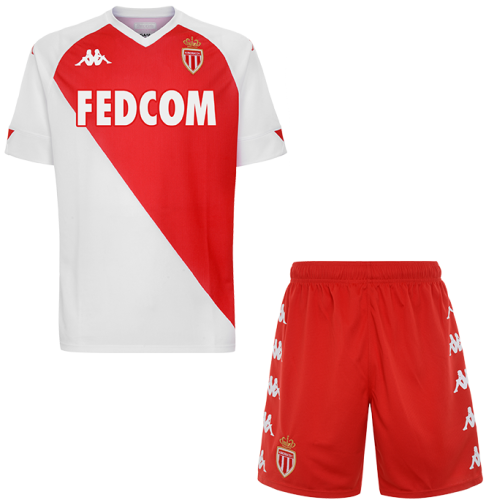 AS Monaco 20/21 Home Soccer Jersey And Short Kit