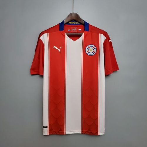 Thai Version Paraguay 20/21 Home Soccer Jersey