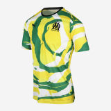 Thai Version Olympique Marseille 2021 'OM Africa' Collectors Jersey - White/Green/Lime