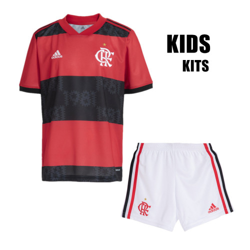 Flamenco 2021 Kids Home Soccer Jersey and Short Kit
