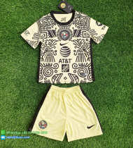 Club America 21/22 Kids Fourth Soccer Jersey and Short Kit