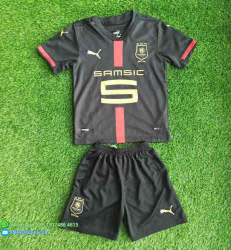 Kids Stade Rennais 120th Anniversary Jersey and Short Kit