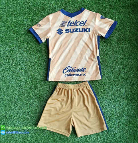 (Discount) Kids Pumas UNAM 2021 Third Soccer Jersey and Short Kit