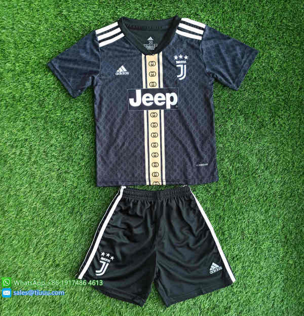 (Discount) Kids Juventus 20/21 Limited Edition Soccer Jersey and Short Kit