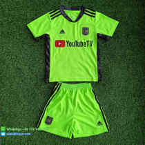 Kids Los Angeles FC 2021 Goalkeeper Jersey and Short Kit