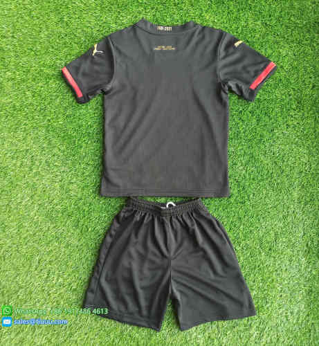 (Discount) Kids Stade Rennais 120th Anniversary Jersey and Short Kit