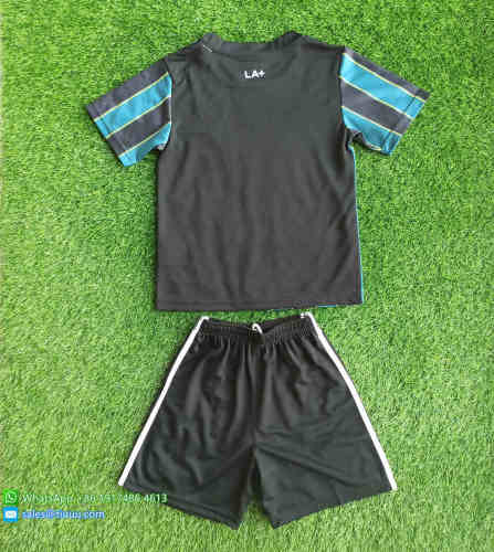 Kids Los Angeles Galaxy 2021 Away Soccer Jersey and Short Kit
