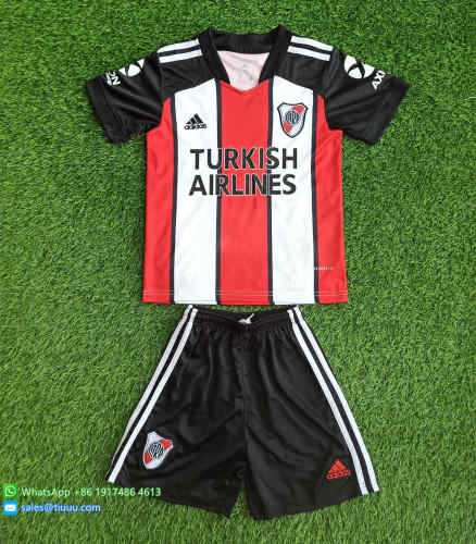 (Discount) Kids River Plate 2021 Third Soccer Jersey and Short Kit