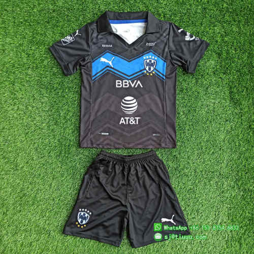 Kids Monterrey 2021 Third Soccer Jersey and Short Kit
