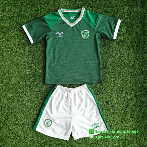 Kids Ireland 2021 Home Soccer Jersey and Short Kit