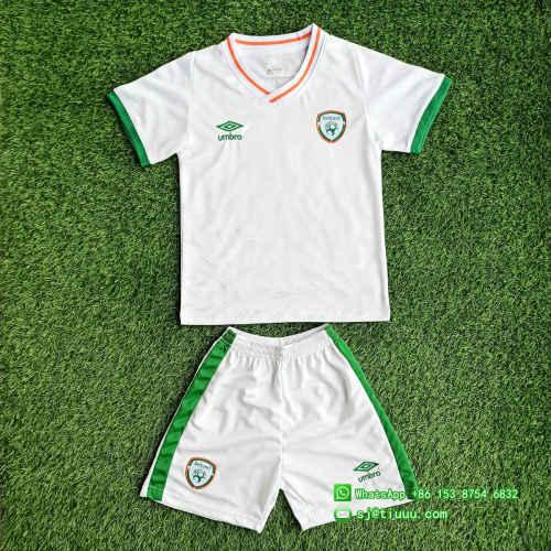 Kids Ireland 2021 Away Soccer Jersey and Short Kit
