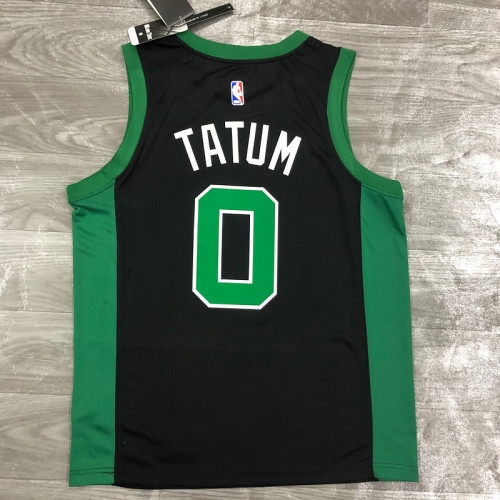 Thai Version Men's Jayson Tatum Black 2020-21 Swingman Player Jersey - Statement Edition