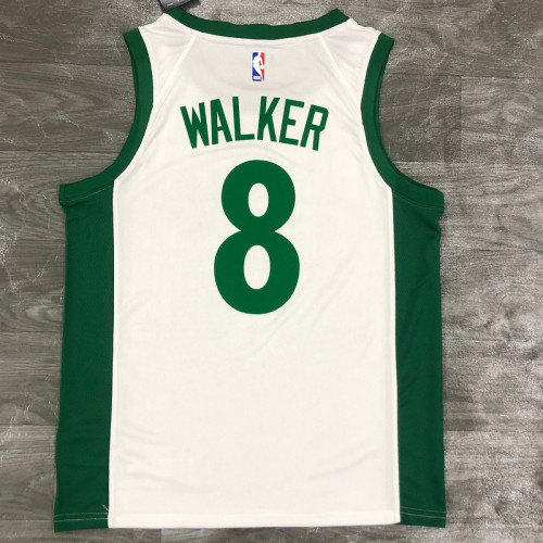 Thai Version Men's Kemba Walker White 2020-21 Swingman Player Jersey - City Edition