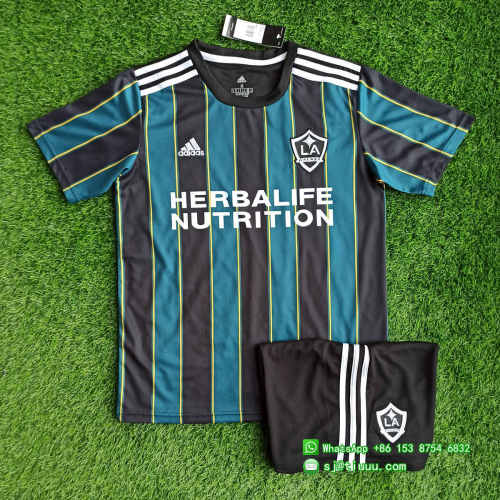 Los Angeles Galaxy 2021 Away Soccer Jersey and Short Kit