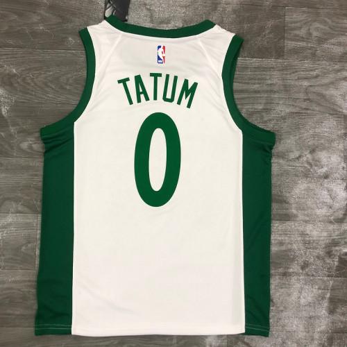 Thai Version Men's Jayson Tatum White 2020-21 Swingman Player Jersey - City Edition
