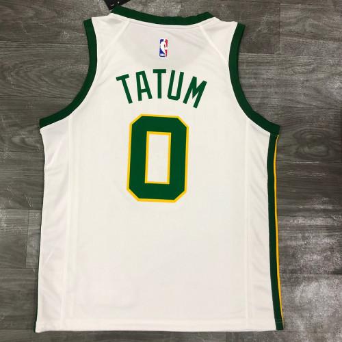 Thai Version Men's Jayson Tatum White Player Jersey - City Edition