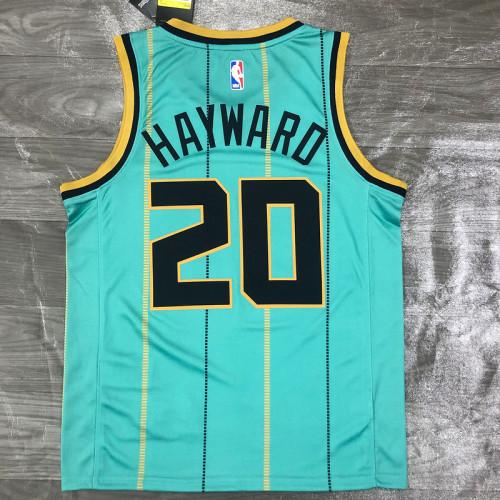 Thai Version Men's Gordon Hayward Mint Green 2020-21 Swingman Player Jersey - City Edition
