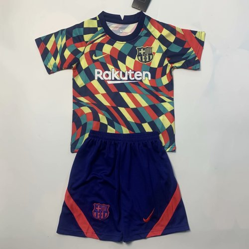 Kids Barcelona 20/21 Training Jersey and Short Kit