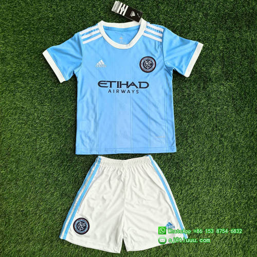 Kids New York City 2021 Home Soccer Jersey and Short Kit