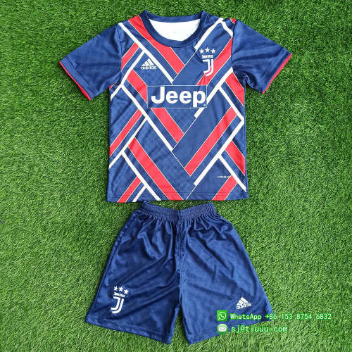 Kids Juventus 21/22 Limited Edition Jersey and Short Kit - Navy
