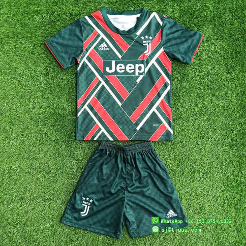 Kids Juventus 21/22 Limited Edition Jersey and Short Kit - Green