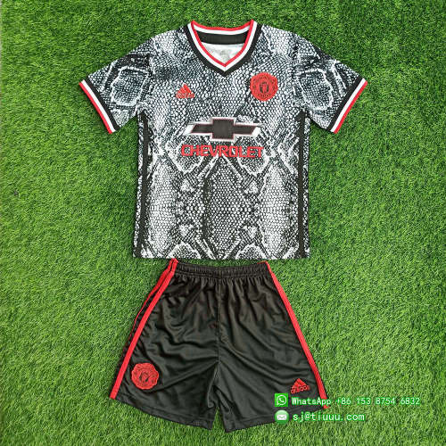Kids Manchester United 21/22 Pre-Match Jersey and Short Kit