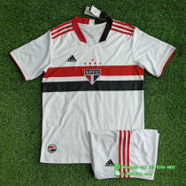 Sao Paulo 2021 Home Soccer Jersey and Short Kit