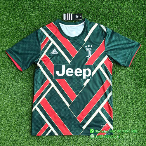 Juventus 21/22 Limited Edition Jersey and Short Kit - Green
