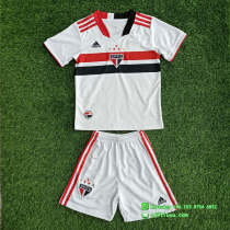 Kids Sao Paulo 2021 Home Soccer Jersey and Short Kit