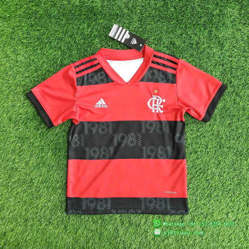 Kids Flamengo 2021 Home Jersey and Short Kit
