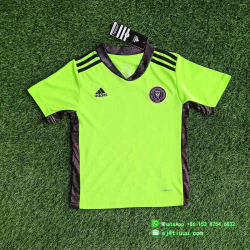 (Discount) Kids Inter Miami CF 2021 Goalkeeper Soccer Jersey and Short Kit