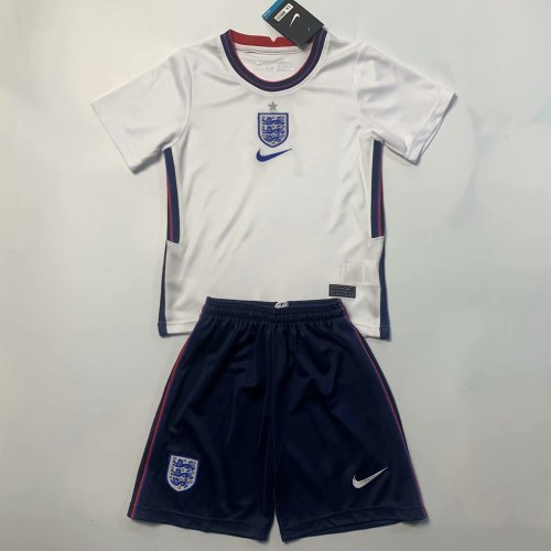Kids England 2021 Home Soccer Jersey and Short Kit