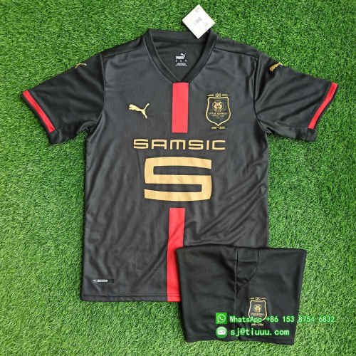 (Discount) Stade Rennais 120th Anniversary Jersey and Short Kit