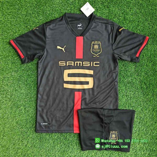 (Discount) Stade Rennais 120th Anniversary Jersey and Short Kit