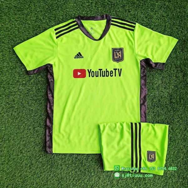 (Discount) Los Angeles FC 2021 Goalkeeper Jersey and Short Kit