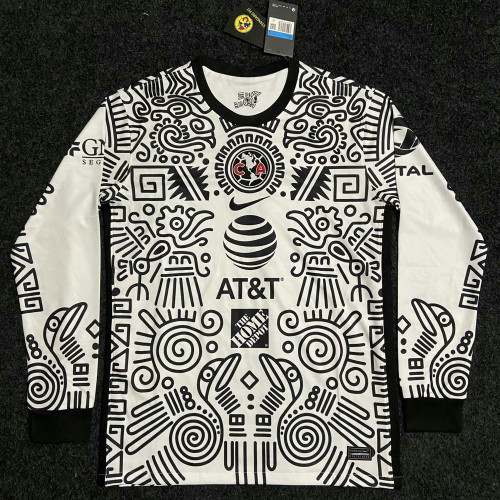 Thai Version Club America 20/21 LS Third Soccer Jersey