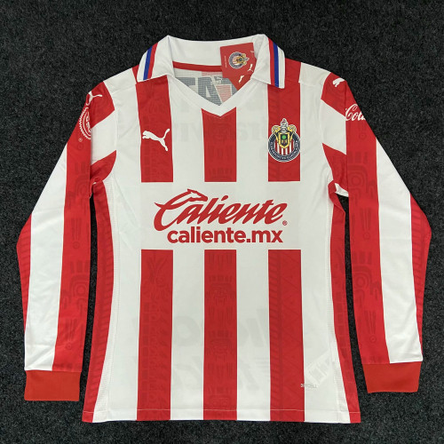 Thai Version Chivas de Guadalajara 20/21 LS Home Soccer Jersey
