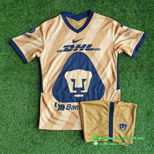 (Discount) Pumas UNAM 2021 Third Soccer Jersey and Short Kit