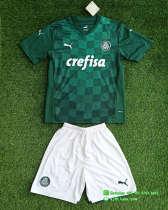 Kids Palmeiras 2021 Home Jersey and Short Kit