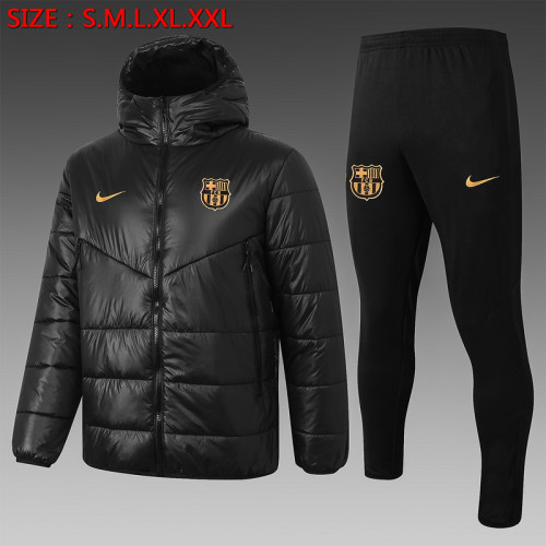 Barcelona 20/21 Winter Training Coat Black H0029#