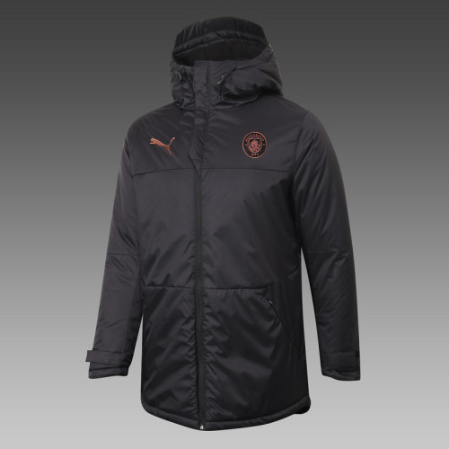 Manchester City 20/21 Winter Training Coat Black H0040#