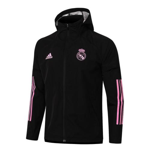 Real Madrid 20/21 Windbreaker Black G081#