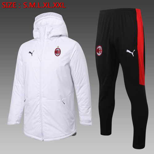 AC Milan 20/21 Winter Training Coat White - H0038#