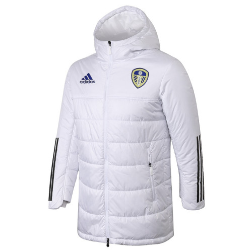 Leeds United 20/21 Winter Training Coat White